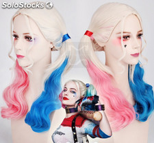 Harley Quinn Cosplay Perruque de Style Bouclés Synthétique