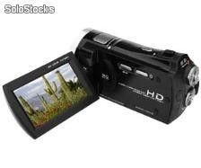 Hd Digital Video Camera with 3-inch Color lcd Screen and 8x Digital Zoom