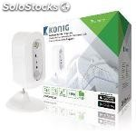 Hd ip camera indoor 720P rechargeable white/silver