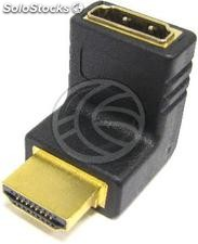 Hdmi Adapter hdmi type-a Male to hdmi-a above elbow female (HD46)