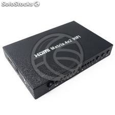HDMI matrix selector switch with audio of 4 inputs 2 output (HL41-0003)