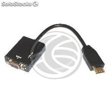 HDMI to VGA converter with analog stereo audio (HC74-0002)