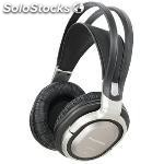 Headphones over-ear radio frequency silver