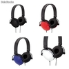 Headset Auricular estereo grandes tipo hi-fi. colores surtidos. toma jack 3,5mm