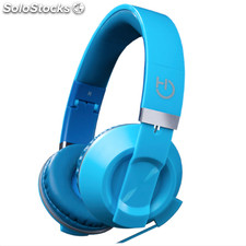 Headset hiditec cool kids deep blue con sistema de plegado jack 3.5MM altavoces