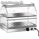 Heated countertop display - mod. vbr2 - stainless steel structure - n. 2 shelves