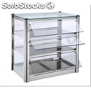 Heated display - mod. lc94s - n. 3 display shelves - tempered glass front and