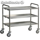 Heavy duty 3-shelf stainless steel catering trolley - mod. ca1395p - stainless