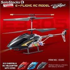 Helicoptero e-flight NEGRO - 3.5 ch - gyro - misiles led - cargador red 220V.
