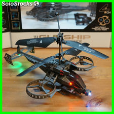 Helicoptero gunship avatar 4 motores 4 canales radio control