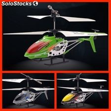 Helicoptero mould king de 23 cm - verde - 3.5 canales - gyro - usb
