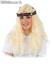 Hippie wig with wavy hair