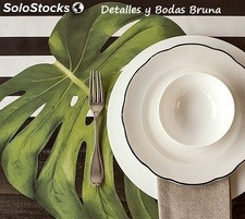 Hoja de Monstera Bajoplato Mantel Individual. Decoracion Boda Original Tropical