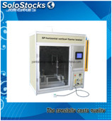 Horizontal and vertical flame tester (sp)