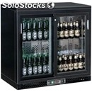 Horizontal refrigerated display - prepainted metal and aluminium - for drinks -