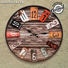Horloge Murale Antique Vintage Coconut