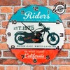 Horloge Murale California Riders Vintage Coconut - Photo 1