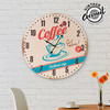 Horloge Murale Coffee Vintage Coconut - Photo 1