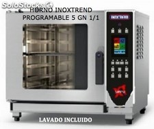 Horno 5 gn 1/1 inoxtrend simple programable