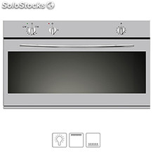 Horno de gas vitrokitchen HG91IN Gas natural inox 110 litros con grill 90 cm
