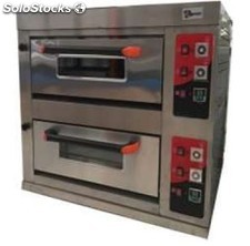 Horno de pizza doble 4+4 de 33 cm a gas 1030X780X1085 cm industrial