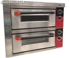 Horno de pizza doble 4+4 DE26 electrico 80X63X76 cm industrial