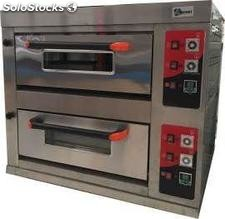 Horno de pizza doble 4+4X33 a gas