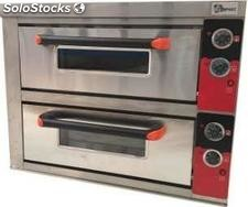 Horno de pizza doble 4+4X33 electrico
