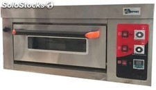 Horno de pizza simple 4 de 26 cm a gas 90X65X49 cm industrial