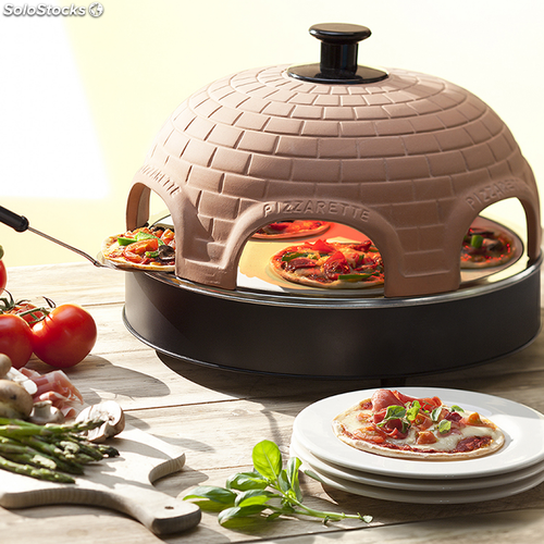 horno emerio pizzarette original para mini pizza 4 personas. Black Bedroom Furniture Sets. Home Design Ideas