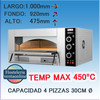 Horno pizza a gas movilfrit HPG4