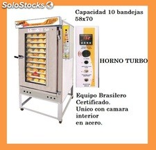 Horno Turbo Marraquetero 5 , 8 , 10 bandejas gas y leña