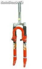 "Horquilla suspension top-gun"" 25.4MM v-brake rojo"""
