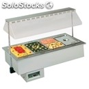 Hot bain marie drop-in well display for gn pans - mod. sinfonia bm -