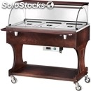 Hot bain marie trolley - mod. cl2778 - solid wood structure - temperature +30°