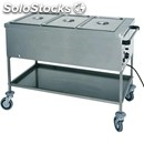 Hot bain marie trolley - mod. ct - stainless steel structure - double wall tank