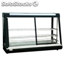 Hot countertop display - mod. r 60 - painted steel structure - sliding glass