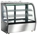 Hot countertop snack display - stainless steel - curved glass - mod. vph100 -