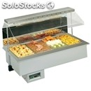 Hot drop-in food well display for gn pans - mod. melodia 4 gn dry -