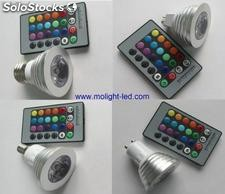 Hot-sale 3w rgb led Spotlight Bulb with base e27, mr16, gu10 and e14