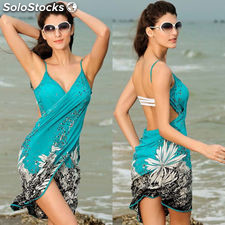 Hot Sexy Floral Bikini Swim Suit Bathing Suits Swimwear Cover Up Beach Dress