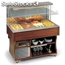 Hot wall buffet display - mod. walldry - wooden frame - stainless steel tank -