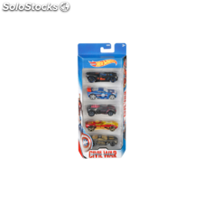 hot wheel capitan america pack 5 vehiculos