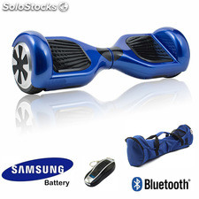 Hoverboard - patinete electrico bluetooth +alarm scooter bateria samsung + bolso