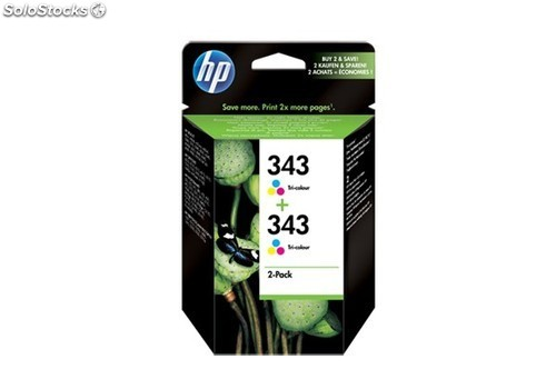 HP 343 Tri-colour Inkjet Print Cartridges 2-pack with Vivera Inks CB332EE