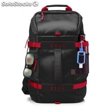 "HP - 39.62 cm (15.6"""") Odyssey Backpack Red/Black Nylon Negro, Rojo mochila"
