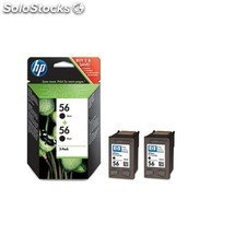 HP - 56 2-pack Black Inkjet Print Cartridges