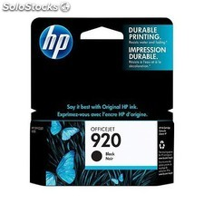 HP - 920 Black Officejet Ink Cartridge Negro cartucho de tinta - 3948631