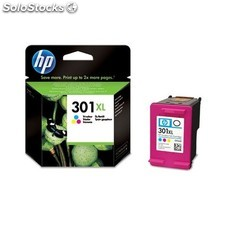HP - Cartucho de tinta original 301XL de alta capacidad Tri-color