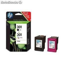 Hp cartucho negro´tricolor Nº301 190 pag. Pack 2